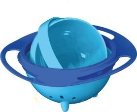 Prato Mágico Giratório, 360 graus, para bebês e crianças, da Prato Mágico, AZUL