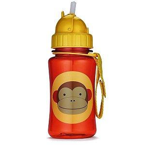 Garrafinha infantil, com canudo, Skip Hop Zoo, tema Macaco