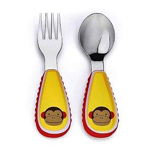 Conjunto com 2 talheres (colher e garfo), Skip Hop Zoo, tema Macaco