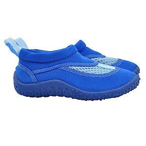 Sapato infantil de verão, em neoprene, da Iplay, cor azul royal