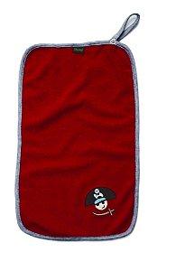 Conjunto de Toalhas de Boca com prendedor de chupetas, Pirata Tato, da Gumii, com 2 unidades