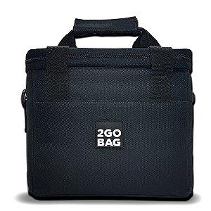 Bolsa Térmica 2go Bag Mid Black com Capacidade para 6,6 Litros