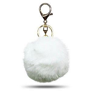 Chaveiro de Pompom | Branco