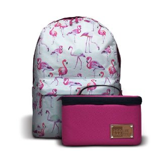 Mochila Térmica 2goBag 2GETHER LifeStyle | White Flamingos