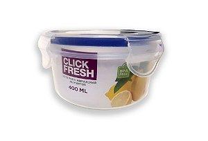 Pote para Armazenar Alimentos Click Fresh Redondo 400ml