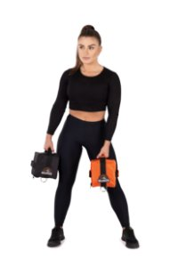 Cubo Fitness Halter 2go Cube Orange Black Até 5 Kilos Cada