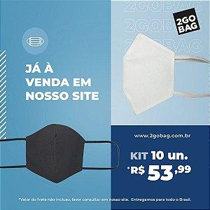 Máscara Esportiva Reutilizável Kit com 10 unidades
