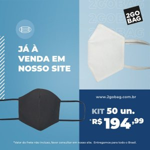 Máscara Esportiva Reutilizável Kit com 50 unidades