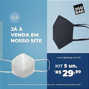 Máscara Esportiva Reutilizável Kit com 5 unidades