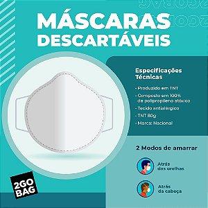 Máscara Descartável Kit com 40 unidades