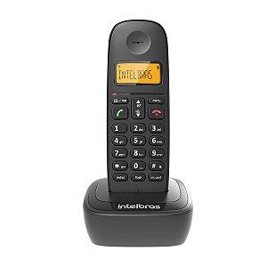 Telefone Intelbras Sem Fio Digital Preto TS- 2510 6.0