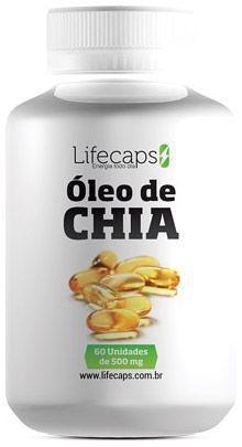ÓLEO DE CHIA  (Redução do colesterol) 500Mg - 60 Capsulas