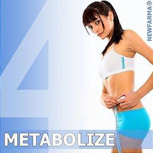 """METABOLIZE 4 (Redução do """"efeito sanfona"""") 250 Mg - 60 Capsulas"""