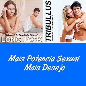 LONG JACK MAIS TRIBULLUS TERRESTRIS (Aumenta o desejo e a potencia Sexual) - 60 Capsulas