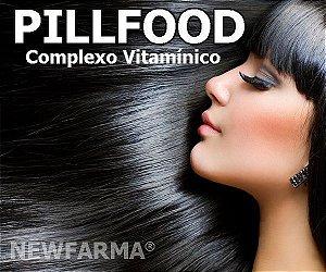 PILLFOOD (Complexo Vitamínico para Pele, Cabelos e Unhas) 60 Capsulas - 369 Mg
