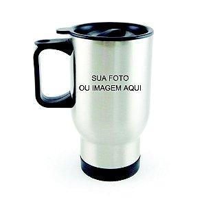 CANECA TÉRMICA DE AÇO INOX PRATA 500 Ml