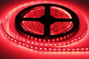 Fita De Led 5 Metros Vermelho 50x50 Decoração Luz Led Sem fonte