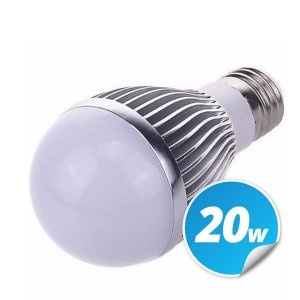 Lâmpadas Aluminio Led Bulbo Bivolt Branca 20w
