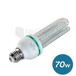 Lampada 70w Led Milho Bulbo E27 Bivolt 6000k Branco Frio