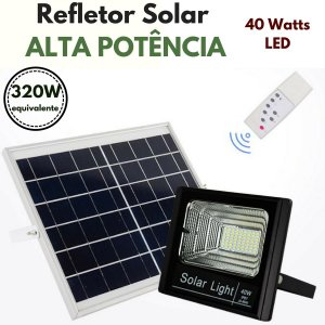 Refletor Energia Solar de Luz ALTA POTENCIA - 40 Watts LED