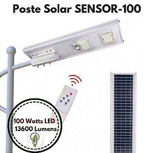 Poste Energia Solar LED com SENSOR-100