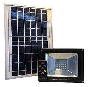 Refletor Holofote Solar Ultra Led 10w Real Placa Completo