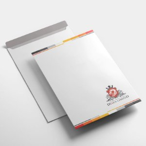 100 Envelopes Saco 24x34cm Sulfite 90g - 4x0 Sem Verniz - Corte e Vinco Padrão