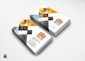 1.000 Cartões de Visita - 4,8x8,8cm Couchê Brilho 250g - 4x4 Verniz Total Brilho Frente Verso