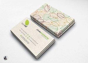 1.000 Cartões de Visita - 5x9cm Reciclato 240g - 4x4 Sem Verniz