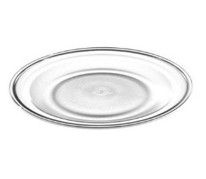 Prato Raso 26cm - 100% Acrílico - Incolor
