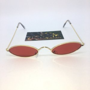 Óculos Vintage Oval - Red/Gold