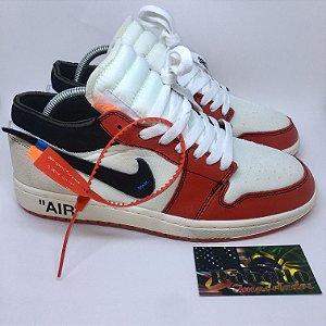 "Tênis Nike Air Jordan 1 ""Off-White"""