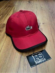 Boné Lacoste Logo Clássico Vermelho