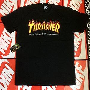 Camiseta Thrasher Magazine - Preta