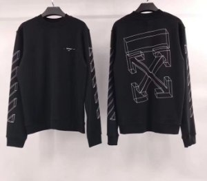 Off White 18FW 3D Sketches Sweatshirt Black - Sob Encomenda