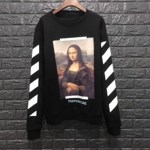 "Blusa Moletom Off-White ""Mona Lisa"" Black - ENCOMENDA"