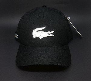 Boné Lacoste Big Logo - Preto