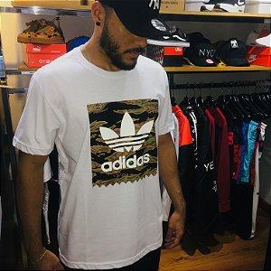 Camiseta Adidas Originals Logo - Branca