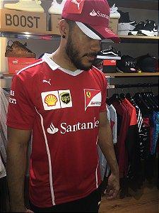 Camiseta Puma Ferrari 'Santander' - Vermelha