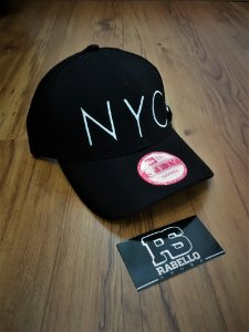 Boné New Era 'NYC' - Preto