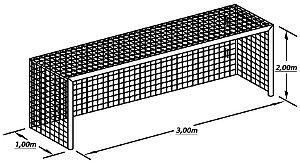 Par Rede de Gol para Futsal Fio 12 Malha 12 Modelo Caixote México Europeu