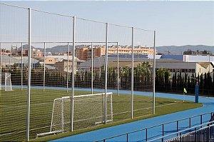 Rede de Proteção Esportiva Sob Medida para Campos de Futebol, Society, Futsal e Quadras - Fio 2 Poliéster Seda