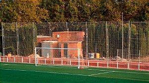 Rede de Proteção Esportiva Sob Medida para Campos de Futebol, Society, Futsal e Quadras - Fio 6 Poliéster Seda