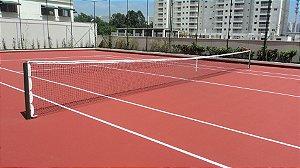 Rede de Tênis Saque Duplo Oficial Reforçado com 3 lonas de 1.8mm e costura tripla
