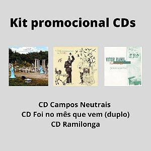 Kit CDs: Campos Neutrais + Foi no mês que vem + Ramilonga