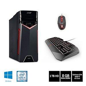 Desktop Acer Gamer GX-783-BR11 i5-7400 8GB 1TB GeForce GTX 1050TI W10HOME