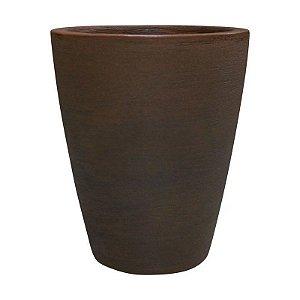VASO DE PLANTA CONE RISCATTO - NO1 - COR FERRUGEM - 33,5cmX39,5cm