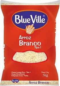 ARROZ AGULHINHA TIPO 1 - BLUE VILLE - 5kg