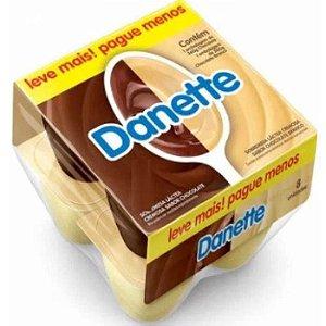 Sobremesa chocolate e chocolate branco - Danette - 540g