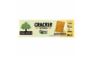 Biscoito cracker integral organico - Mae terra - 130g